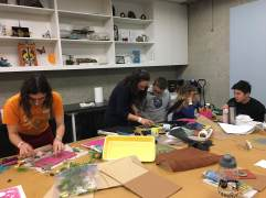 "Printmaking on ""Jelly Plates"" workshop"